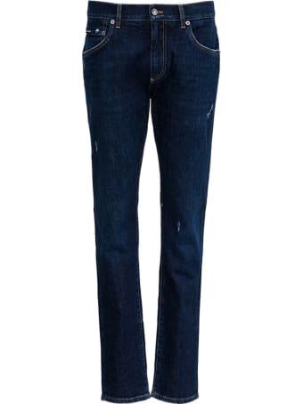 Dolce & Gabbana Blue Denim Jeans With Tears Details