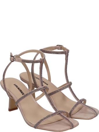 Lola Cruz Sandals In Powder Leather