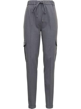Antonelli Gray Pants In Wool Blend