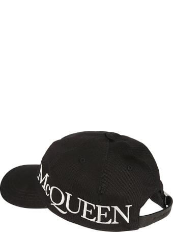 Alexander McQueen Oversized Logo Embroidered Cap