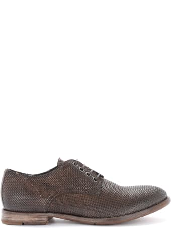 Moma Sombrero Lace-up In Brown Leather