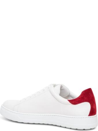Salvatore Ferragamo Leather Sneakers With Gancini Logo