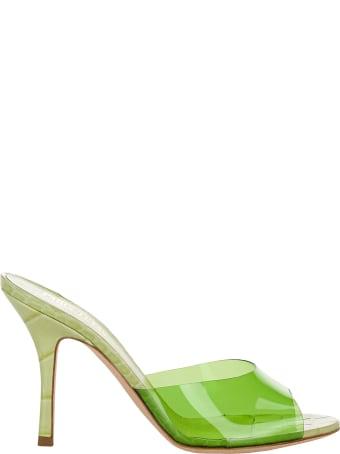 Paris Texas Croc-effect Leather And Pvc Sandals