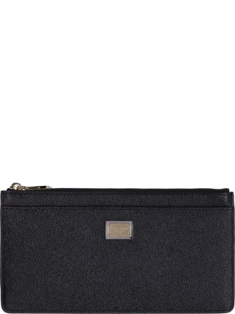 Dolce & Gabbana Dauphine-print Leather Wallet