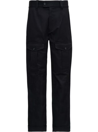Alexander McQueen Black Cotton Pants With Pockets