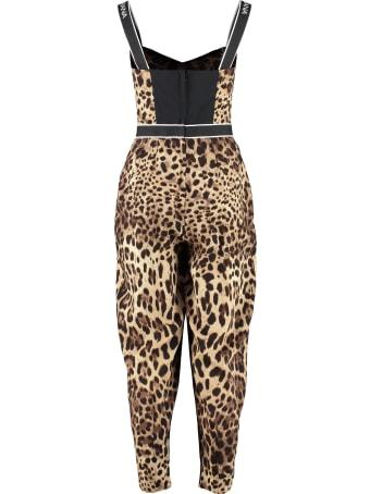Dolce & Gabbana Printed Silk Jumpsuit