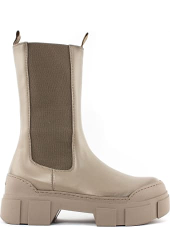 Vic Matié Dove-grey Leather Boot