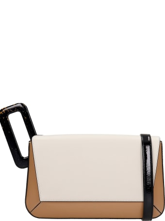 Mlouye Studio Hand Bag In Beige Leather