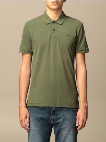 Napapijri Polo Shirt Elbas 4 Napapijri Polo Shirt In Cotton