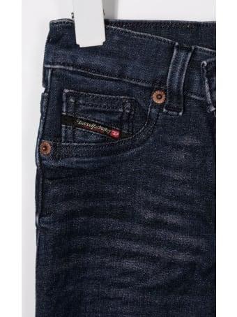 Diesel Skinny Girl Jeans In Dark Blue Denim With Logo