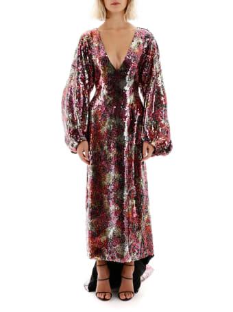 Halpern Long Sequins Dress