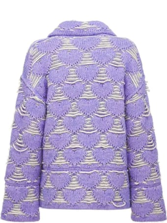Marco Rambaldi Lilac Wool Blend Knitted Jacket