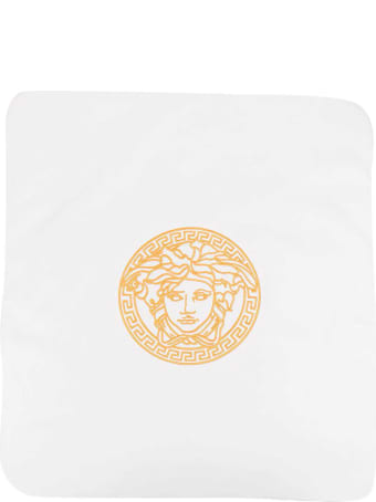 Versace Young White Blanket