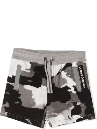 Dolce & Gabbana Jersey Jogging Shorts With Camouflage Print