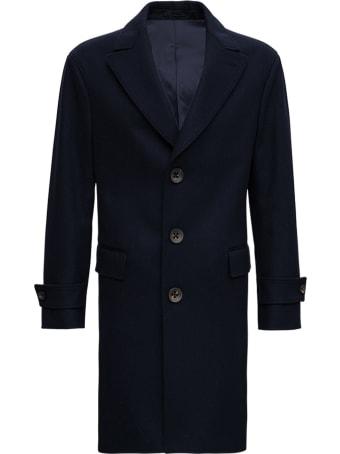 Gabriele Pasini Single Breasted Blue Wool Blend Coat