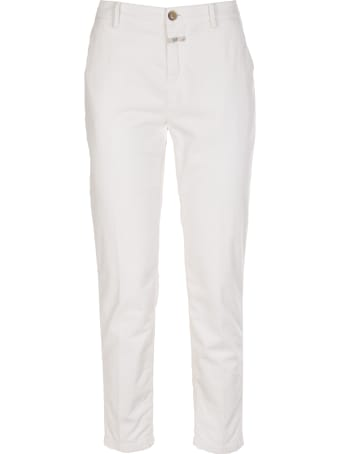 Closed cotton trousers