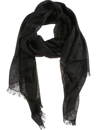 Brunello Cucinelli Fringed Edge Sequined Scarf