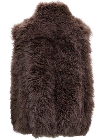 Brunello Cucinelli Cashmere Goat Fur Sleeveless Jacket
