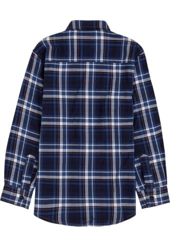 Il Gufo Blue Check Cotton Shirt