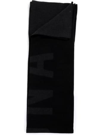 FEAROFGODZEGNA Fear Of God For Zegna Black Logo Blanket Scarf