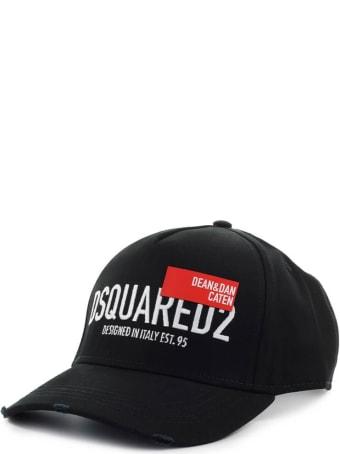 Dsquared2 D&d Red Tag Black Baseball Cap