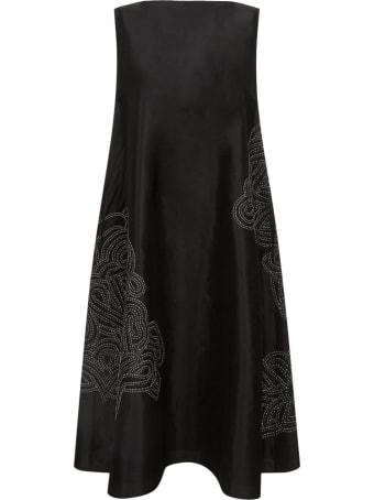 Varana Silk Dress W/rabari Embroidery