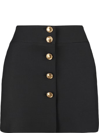 Valentino Wool Crepe Mini-skirt