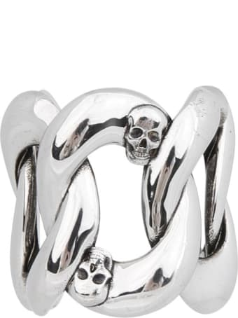 Alexander McQueen Chain And Skull Ring