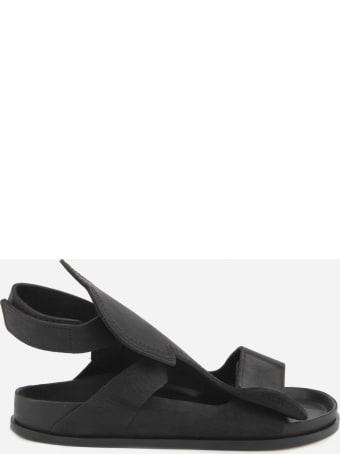 Birkenstock Bukarest Sandals Made Of Oiled Black Nubuck Leather