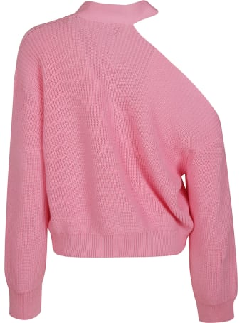 MSGM Cut-out Shoulder Knit Cardigan