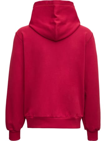 Dolce & Gabbana Red Jersey Hoodie With Logo