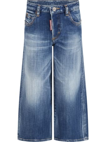 Dsquared2 Light Blue ''page'' Jeans For Kids