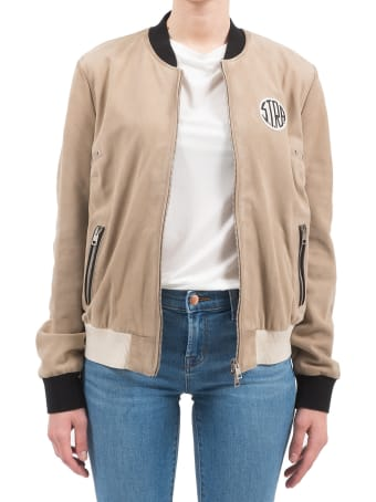 S.T.R.A. - Suede Bomber Jacket