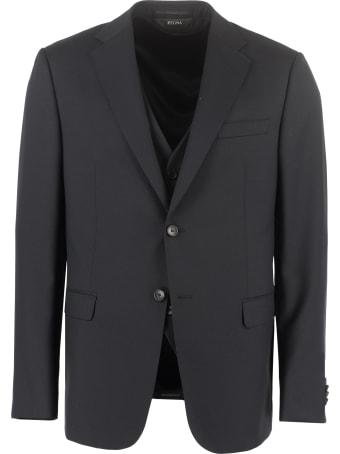 Z Zegna Three-piece Wool Suit