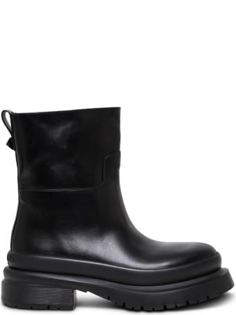 Valentino Garavani Roman Stud Black Leather Boots