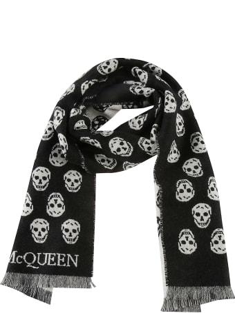 Alexander McQueen Reversible Skull Scarf