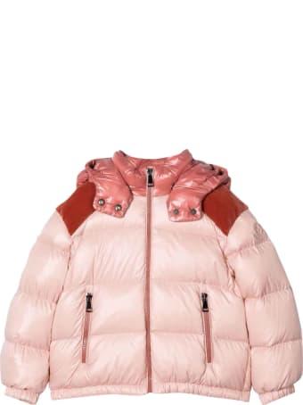 Moncler Pink Moncler Enfant Girl Jacket