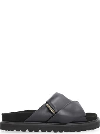 Moncler Fantine Leather Sandals