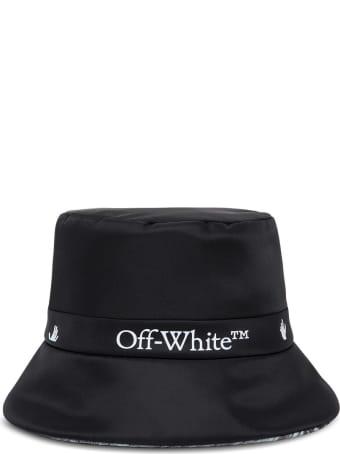 Off-White Reversible Cloche Hat In Nylon With Logo