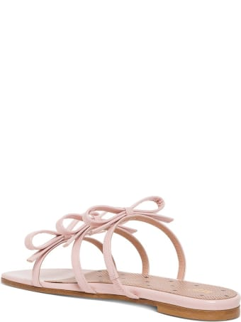 RED Valentino Patent Leather Sandals With Bows Detail