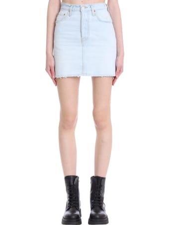 Haikure Georgia Skirt In Cyan Denim
