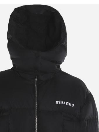 Miu Miu Padded Down Jacket In Tech Nylon