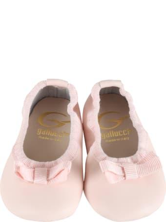 Gallucci Pink Ballerina Flats For Babygirl