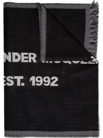 Alexander McQueen Wool Scarf With Contrasting Logo