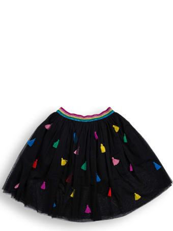 Stella McCartney Kids Black Tulle Skirt With Tassel Detail