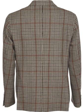 L.B.M. 1911 Brown Checked Wool Jacket