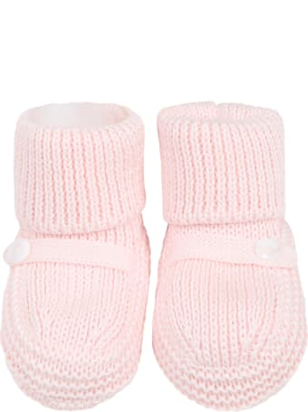 Little Bear Pink Baby Bootee For Babygirl