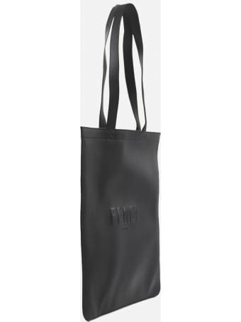 Fendi Leather Shopping Bag With Tone-on-tone Embossed Logo