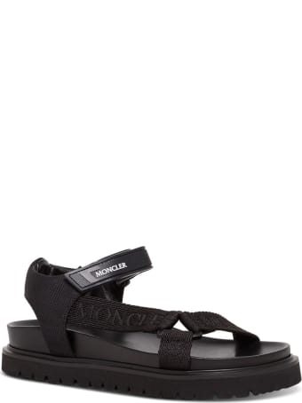 Moncler Flavia Black Sandals With Logo