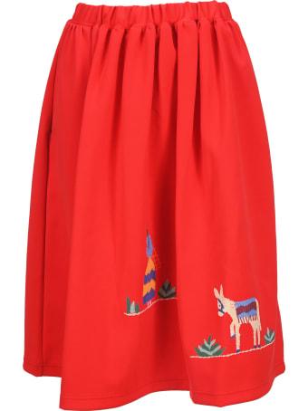 Comme Des Garçons Girl Mexican Midi Skirt